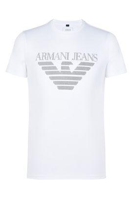 Armani Tshirt stampate Uomo t-shirt girocollo in jersey di cotone con logo