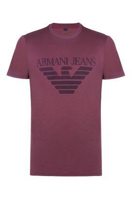Armani Print t-shirts Men cotton jersey crew neck t-shirt with logo