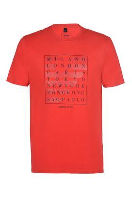 Armani Print t-shirts Men capitals print cotton crew neck t-shirt