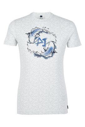 Armani Print t-shirts Men printed cotton jersey crew neck t-shirt