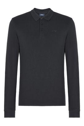 Armani Long-sleeved polos Men long-sleeved cotton pique polo shirt
