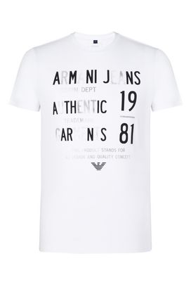 Armani Tshirt stampate Uomo t-shirt girocollo in jersey con stampa