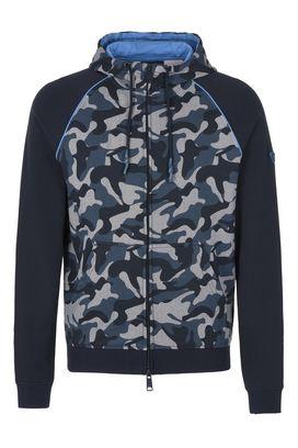 Armani Hoodies Men camouflage print cotton sweatshirt