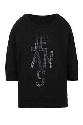 Armani Sweatshirts Women 100% cotton sweatshirt with sequins