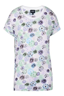 Armani Tshirt stampate Donna t-shirt in jersey tencel a fantasia