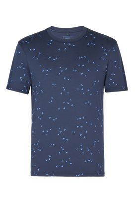 Armani Tshirt stampate Uomo t-shirt girocollo in cotone con acquile all over