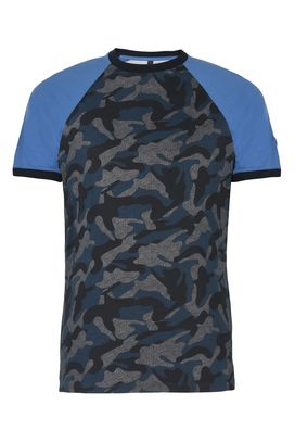 Armani Print t-shirts Men camouflage 100% cotton crew neck t-shirt