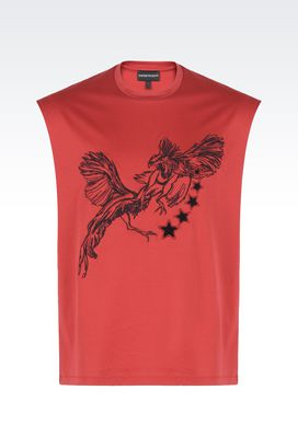 Armani T-shirts Men sleeveless t-shirt with embroidery and appliqués