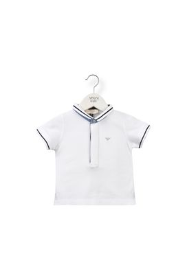 Armani Polos Men cotton piqué polo shirt with concealed buttons