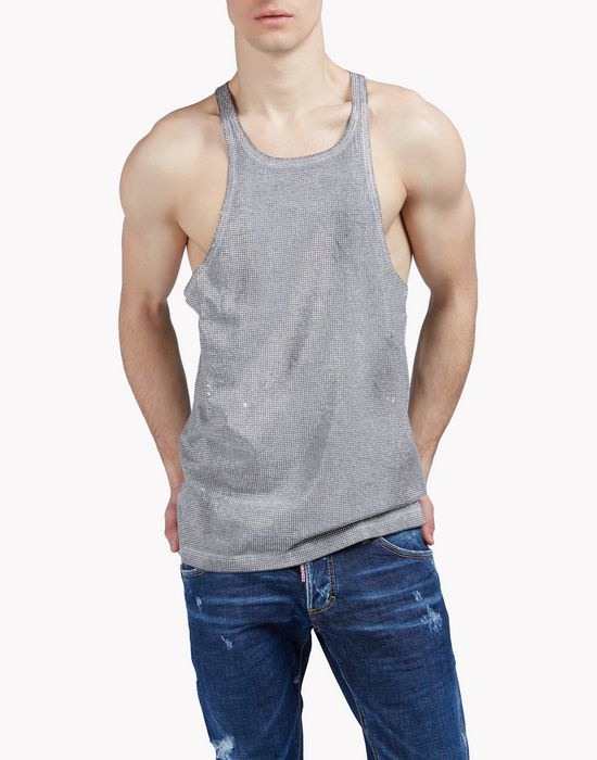 studded tank tops & tees Man Dsquared2