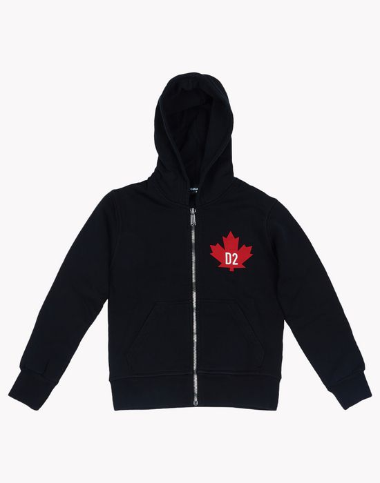 maple leaf hooded sweatshirt tops & tees Man Dsquared2