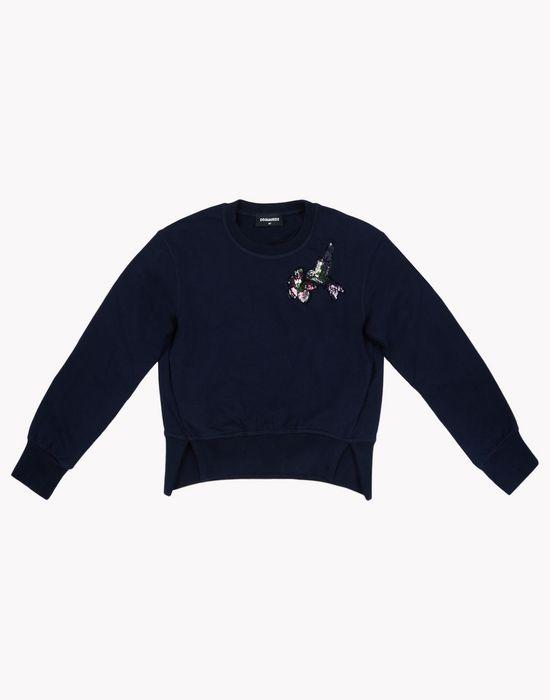 sequin embellished sweatshirt tops & tees Woman Dsquared2