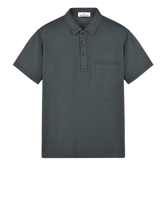 STONE ISLAND Polo shirt 22557 'FISSATO' DYE TREATMENT