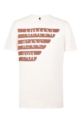 Armani Tshirt stampate Uomo t-shirt girocollo cotone con stampa