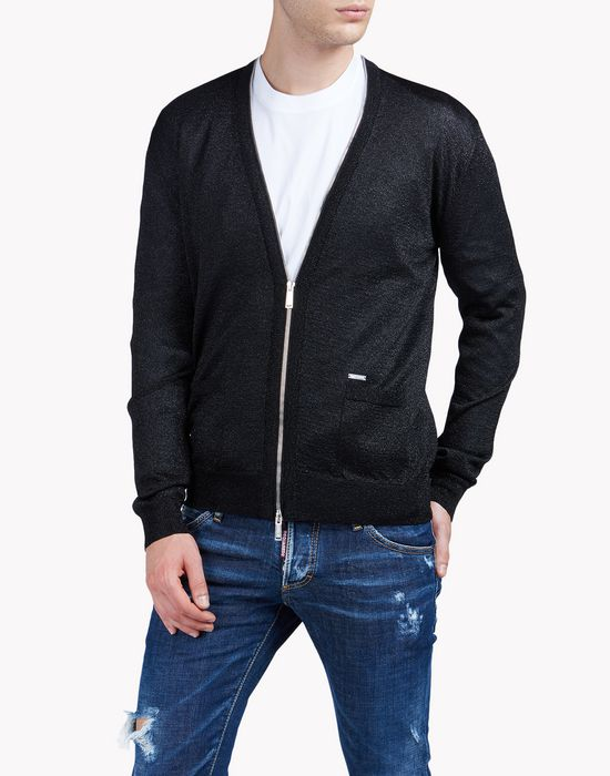 zip up cardigan camisetas y tops Hombre Dsquared2