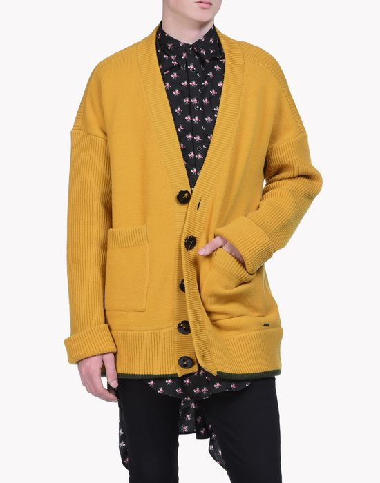 oversize wool cardigan tops Homme Dsquared2