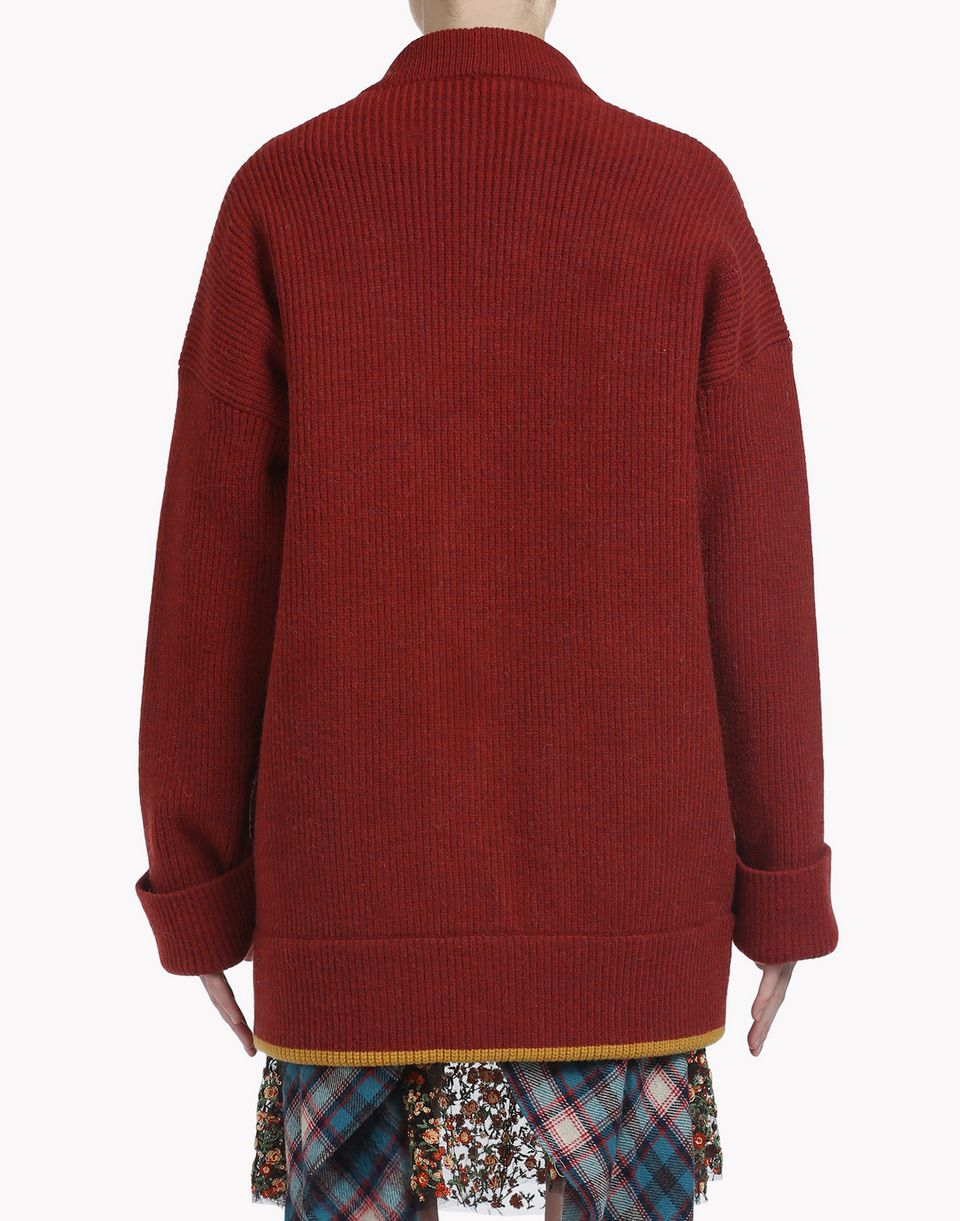 oversize wool pullover tops & tees Woman Dsquared2