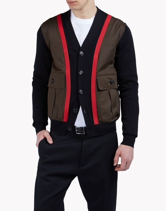 cargo knit cardigan camisetas y tops Hombre Dsquared2
