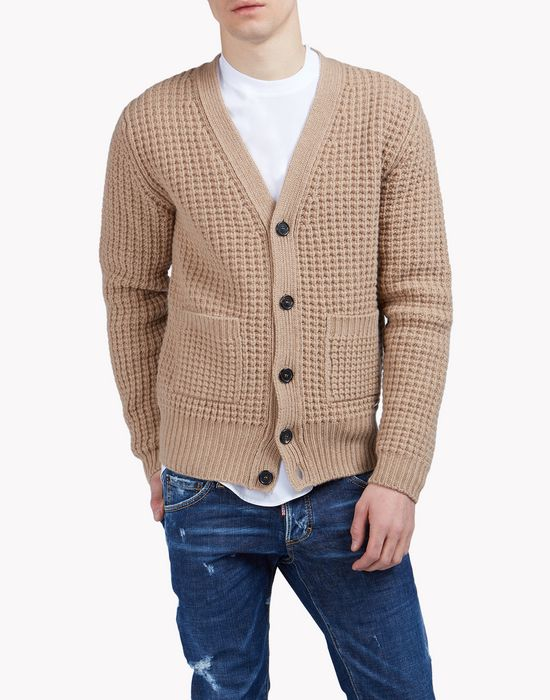 wool knit cardigan tops Homme Dsquared2