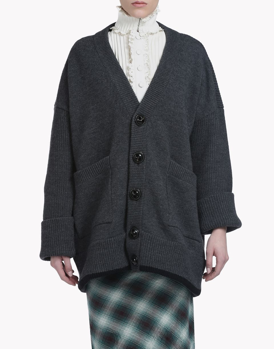 oversize wool cardigan top wear Woman Dsquared2