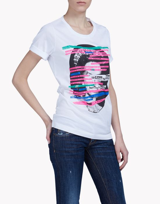 queen t-shirt tops & tees Woman Dsquared2