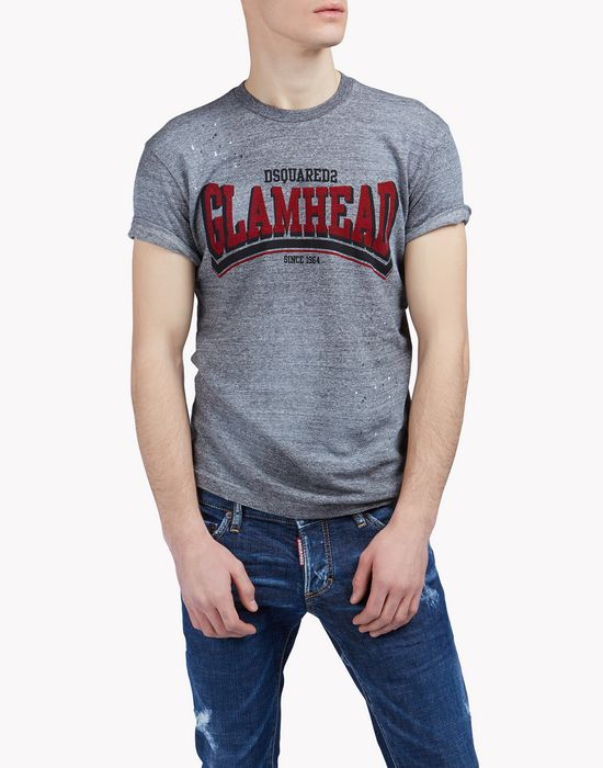 glam head t-shirt top wear Man Dsquared2