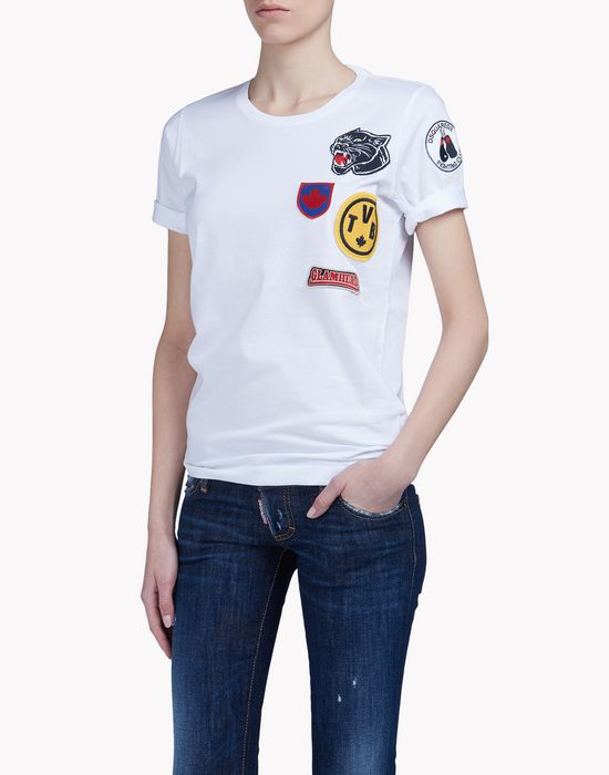 patch t-shirt tops Femme Dsquared2