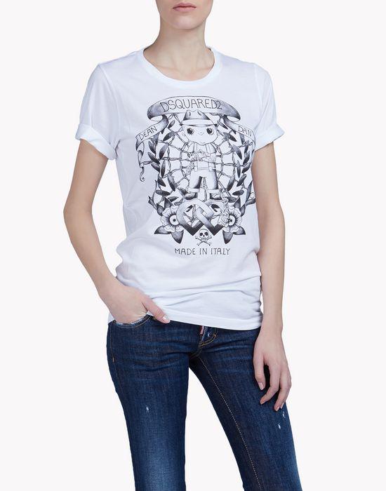 lumberjack t-shirt top wear Woman Dsquared2