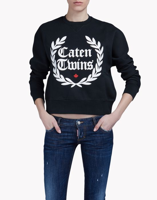 caten twins sweatshirt camisetas y tops Mujer Dsquared2