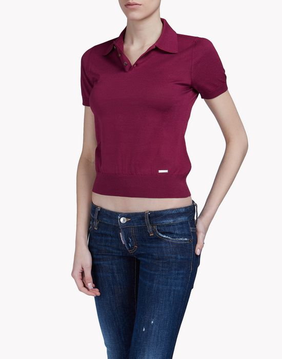 knit polo shirt tops & tees Woman Dsquared2