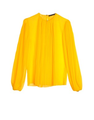 Clothing - Shirts - Blouse Clothing on thecorner.com :  spring see through womens pleats