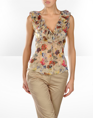 Sleeveless shirt Women - Shirts Women on D&G Online Store United States - Dolce & Gabbana Group :  top wear dolce gabbana dg accessories