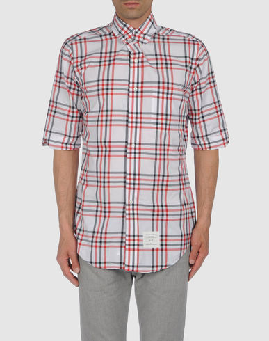 THOM BROWNE - Short sleeve shirt