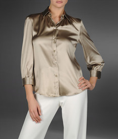 ARMANI COLLEZIONI - Shirt with 3/4-length sleeves