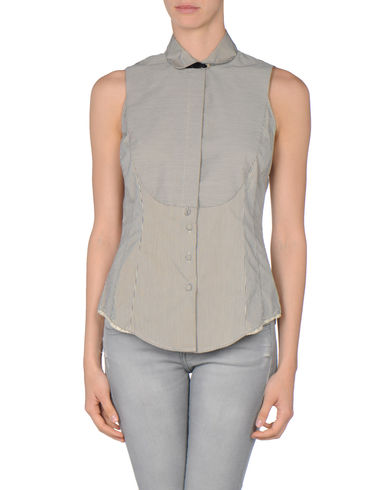 PAUL SMITH BLUE - Sleeveless shirt