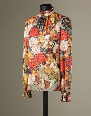 BLUSA STAMPA MEZZO PUNTO - Bluse - Dolce&Gabbana - Inverno 2016