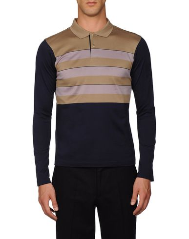 Stripe-Front Polo Shirt