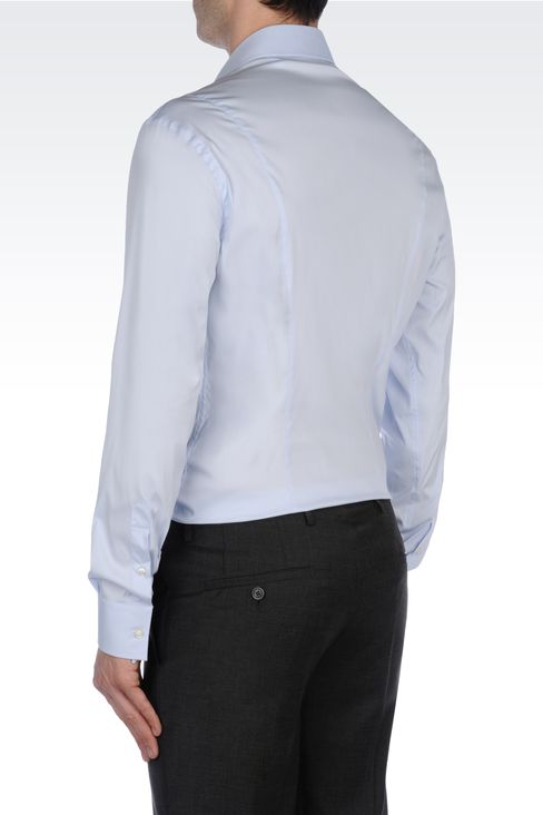 STRETCH COTTON SHIRT: Long sleeve shirts Men by Armani - 3