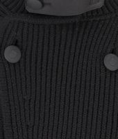 Wool Nappa Detail Cardigan