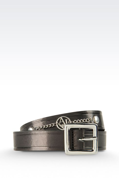 Belts: Leather belt Women by Armani - 1