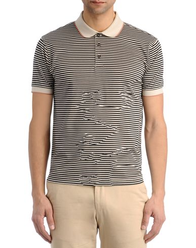 Logo Stripe Polo Shirt