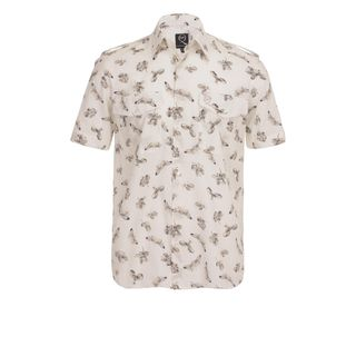 McQ, Shirt, Skeleton Fly Military Short-Sleeve Shirt