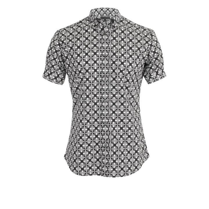 Alexander McQueen, Panama Tile Print Short-Sleeve Shirt