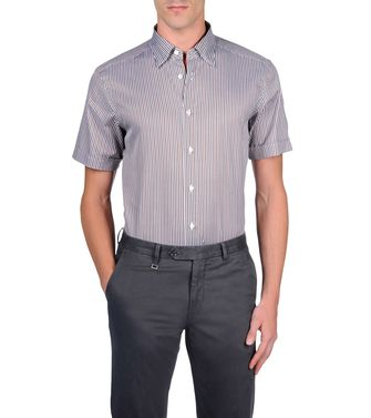 ERMENEGILDO ZEGNA: Casual Shirt Grey - Brown - 38323500NC