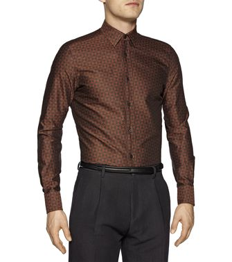ZZEGNA: Chemise Fashion Marron - 38323596MU