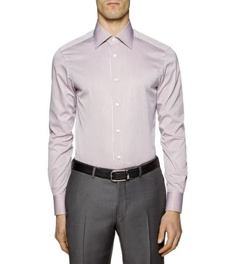 ERMENEGILDO ZEGNA: Formal Shirt Khaki - Blue - 38323613WS