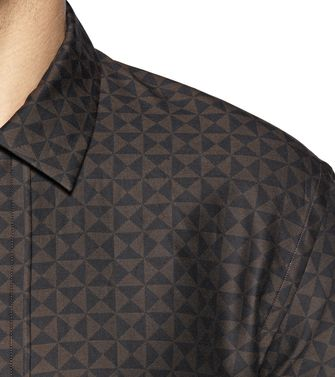 ZZEGNA: Fashion Shirt Dark brown - 38323615tb