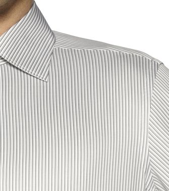 ERMENEGILDO ZEGNA: Formal Shirt Grey - Brown - 38323617MU