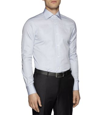 ERMENEGILDO ZEGNA: Formal Shirt Dark brown - 38323618PM