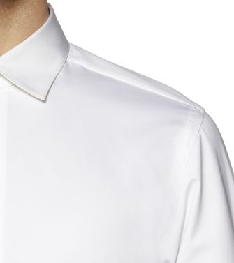 ERMENEGILDO ZEGNA: Camisa formal Blanco - 38323619IP